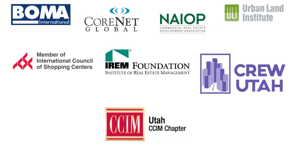 Group of real estate member logos offering professional memberships
