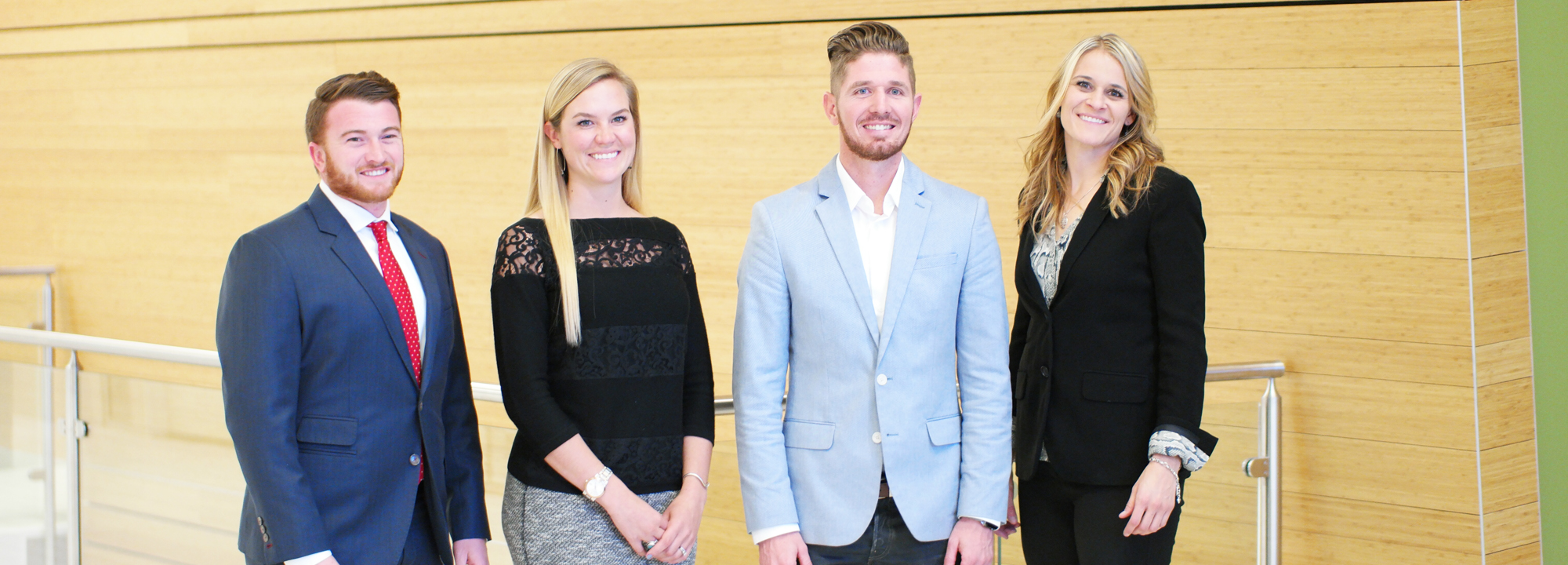 MRED students pose professionally