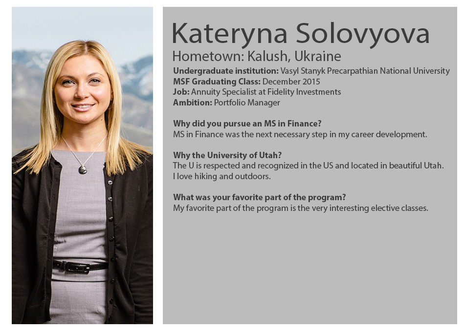 Student Profiles | Master of Science in Finance | David