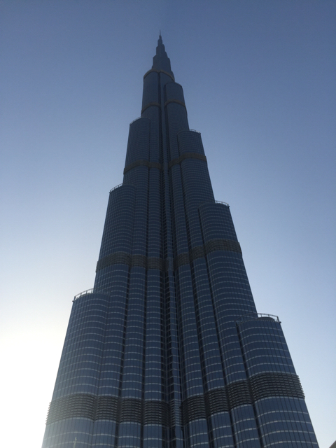 Visiting the Barj Khalifa as part of Real Estate Around the World