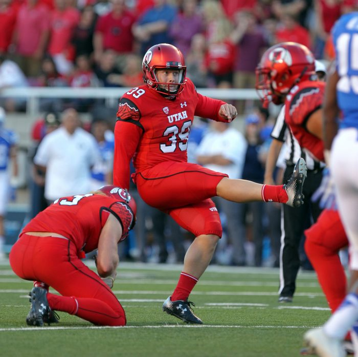 Andy Phillips, MSIS student and Utes starting kicker