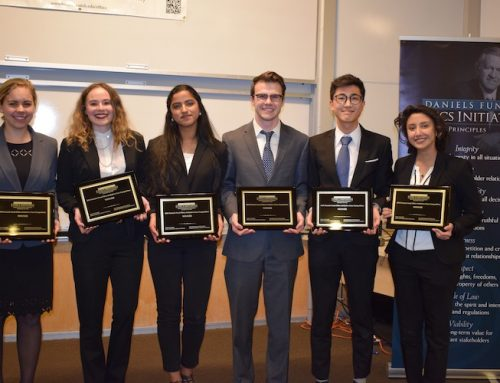 Congratulations to the undergraduate ethics case competition winners!
