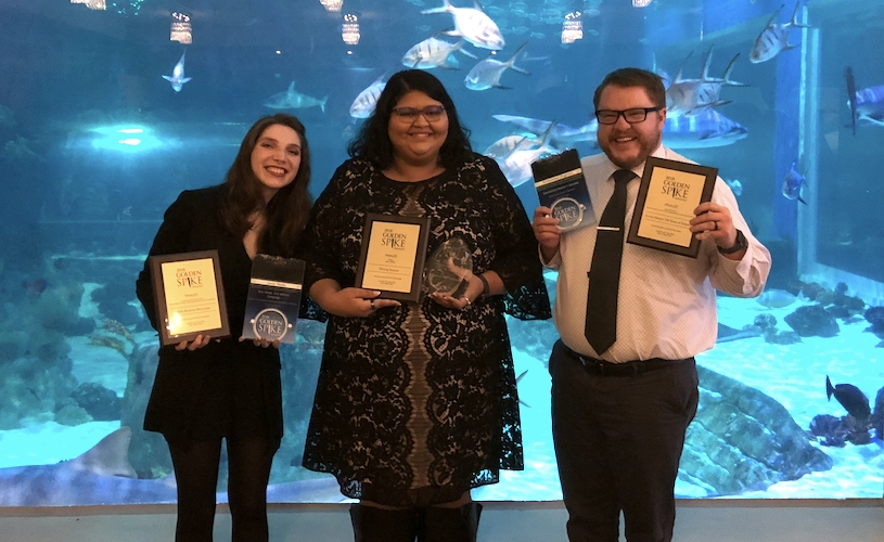 Eccles School takes home six PRSA Golden Spike Awards
