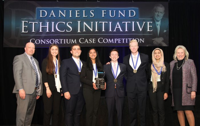 Daniels Fund undergrad first place 2019