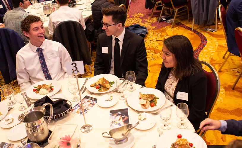 Business Scholars celebrate with etiquette luncheon