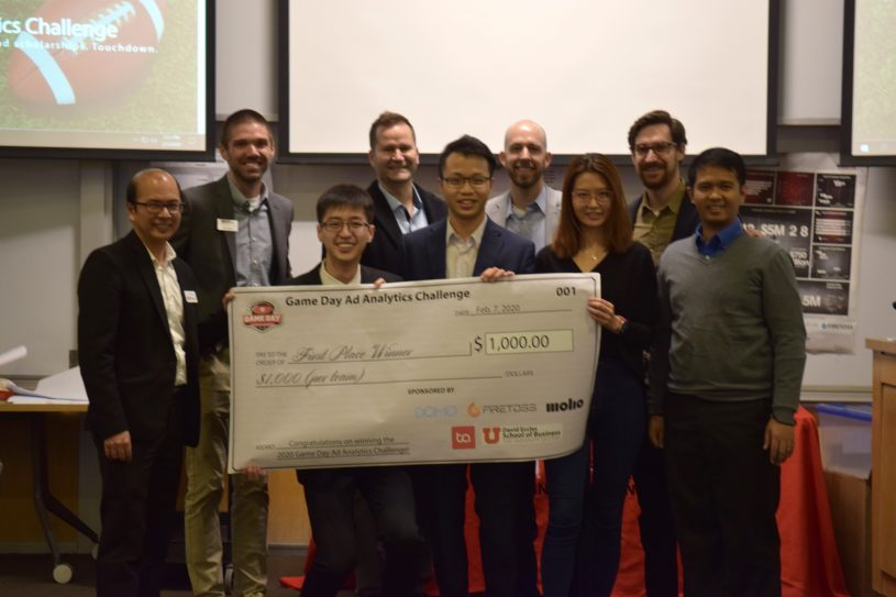 Congratulations to the winners of the Game Day Analytics Challenge!