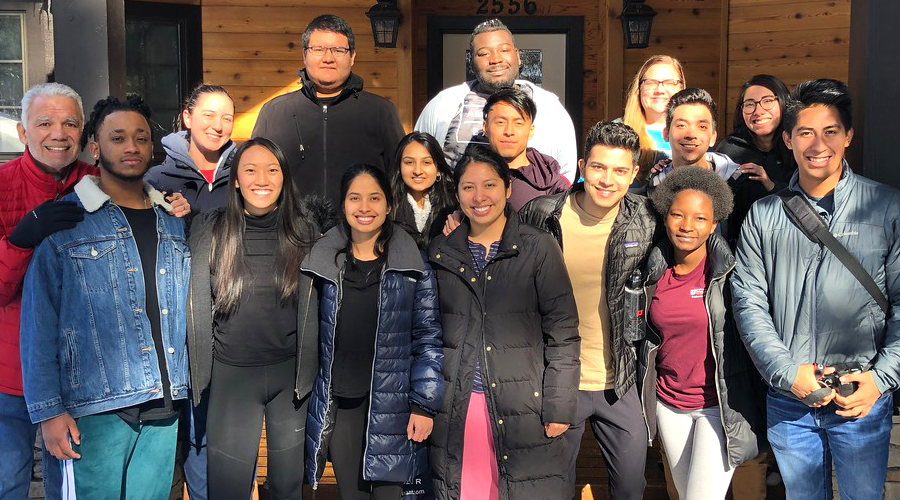 Strategic Space: First Ascent Scholars focus on career strategy at Junior Retreat