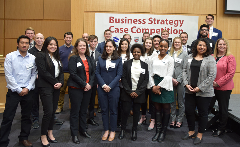 Winners of the Business Strategy Case Competition sponsored by Dominion Energy