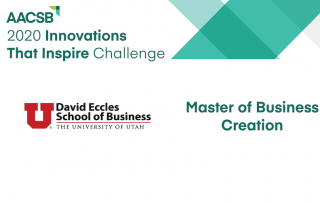 Master of Business Creation honored by AACSB