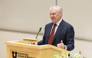 How do you go from having an idea to running a profitable and enduring business? Joel Peterson shared how at the 30th Annual Spencer Fox Eccles Convocation.
