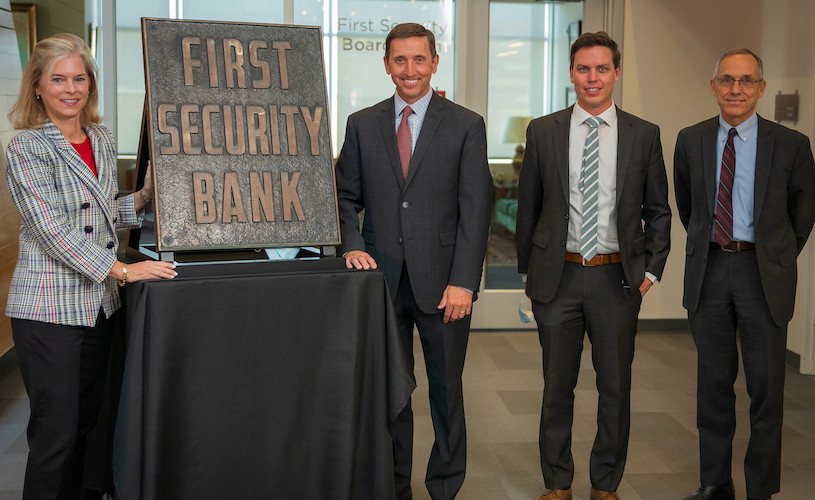 YESCO Presents historic First Security Bank sign to Lisa Eccles