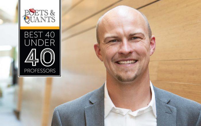 Poets & Quants has named the Eccles School's Jonathan Brogaard, professor of Finance, to its annual 40 Under 40 Professors list.