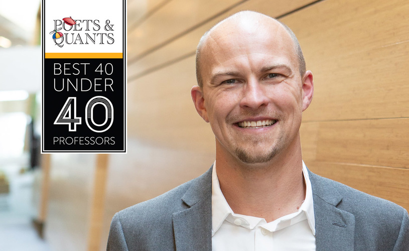 Jonathan Brogaard named to Poets & Quants 40 Under 40 Professors