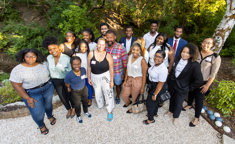 Howard students network with Black business leaders at U alum's home