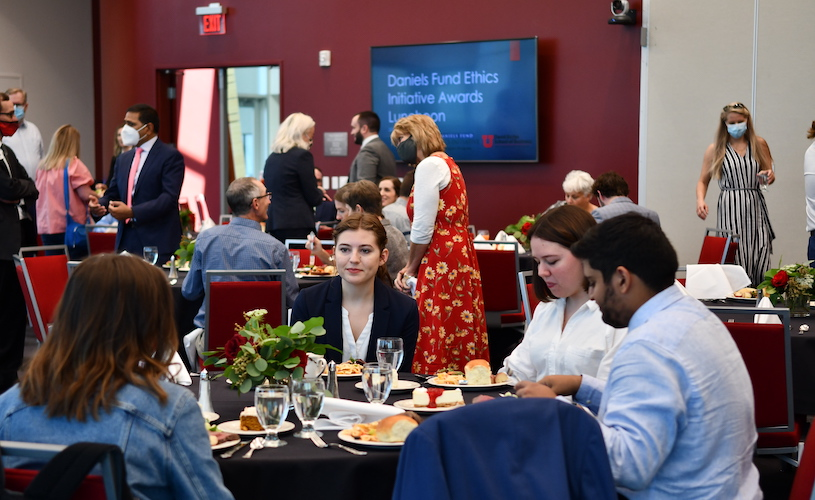 Daniels Fund Ethics Initiative honors students, faculty, staff